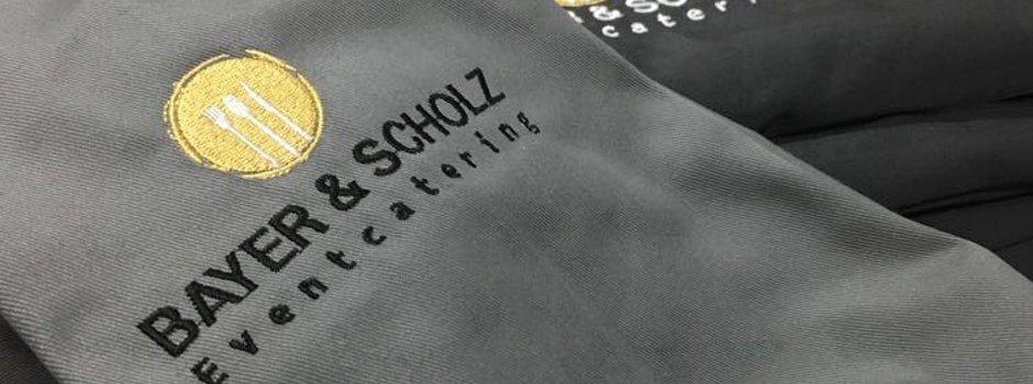 Textildruck Stuttgart - Kochjacken besticken