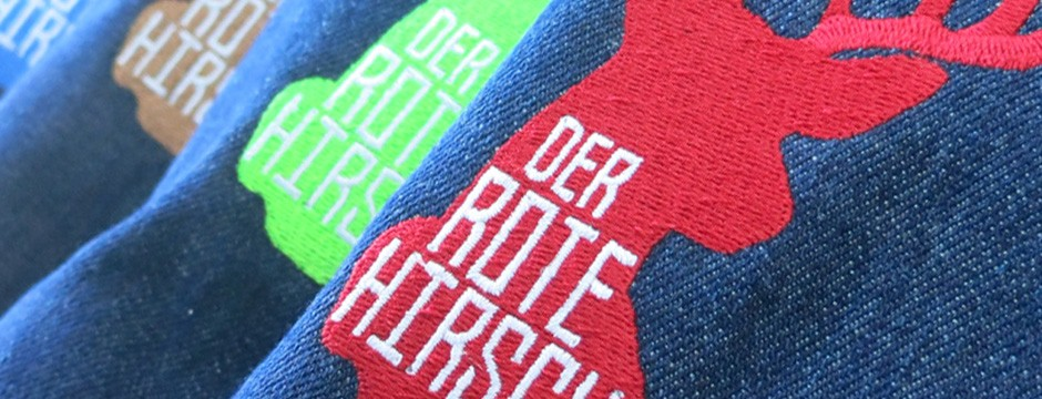 Textildruck Stuttgart - Schürzen besticken