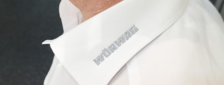 Textildruck Stuttgart - Kragen besticken lassen